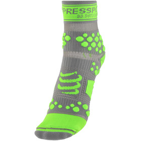 Compressport Racing V2 Trail Løbesokker grå/grøn